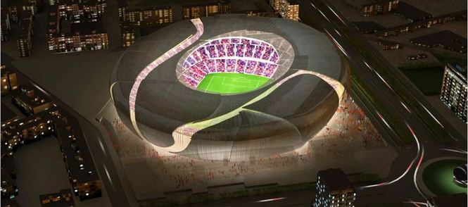 This is the aspect of the future new Mestalla.