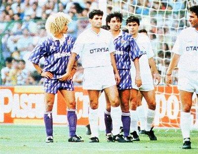 Lamentablemente esta imagen es la que más quedó de Valderrama en la Liga española.