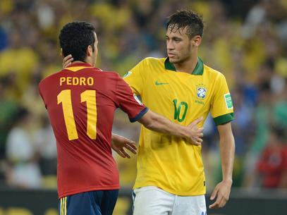 Pedro y Neymar pueden enfrentarse en el próximo Mundial.