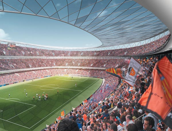 This is how the new Mestalla had to be, still no date to end.