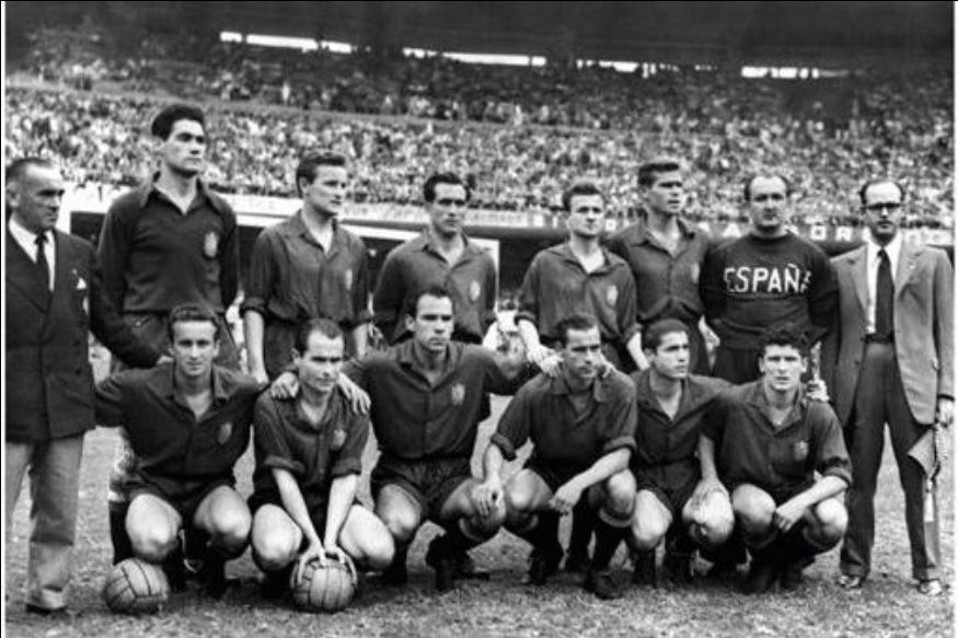 The Spanish team at the World Cup in Brazil 1950