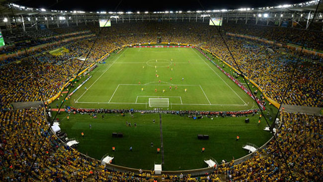 Maracana will host the World Cup final 2014.