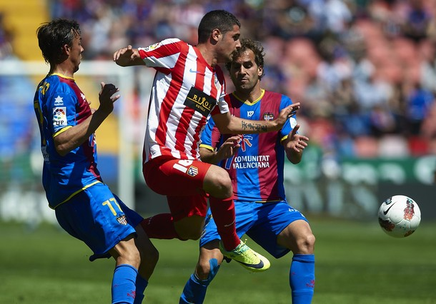 Levante won the game to Atletico 2011 Y 2012. Photo: Getty images.
