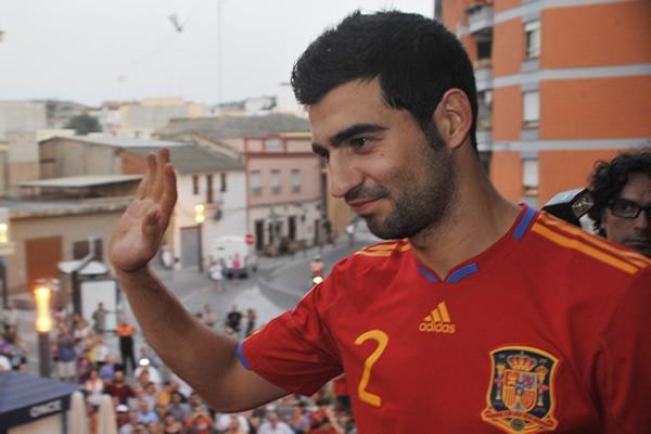 Raúl Albiol, un valenciano campeón del Mundo y de Europa con España.