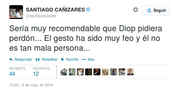In this way, Santiago Cañizares expressed his opinion on the issue..