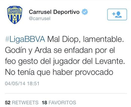 A program as important as Carrusel Deportivo put this on its Twitter.