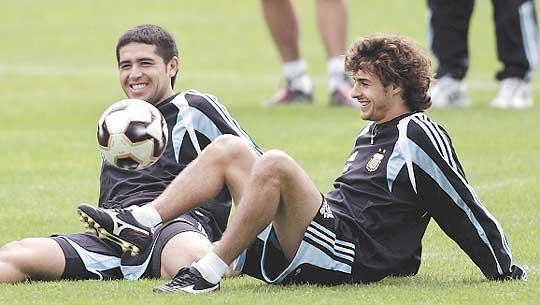 Who are you staying with, Pablo Aimar and Juan Roman Riquelme?