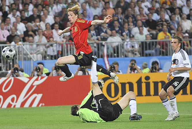 Torres scored the winning goal in the final of the Euro 2008.