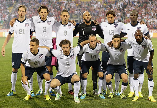 USA will have five players born in Germany.
