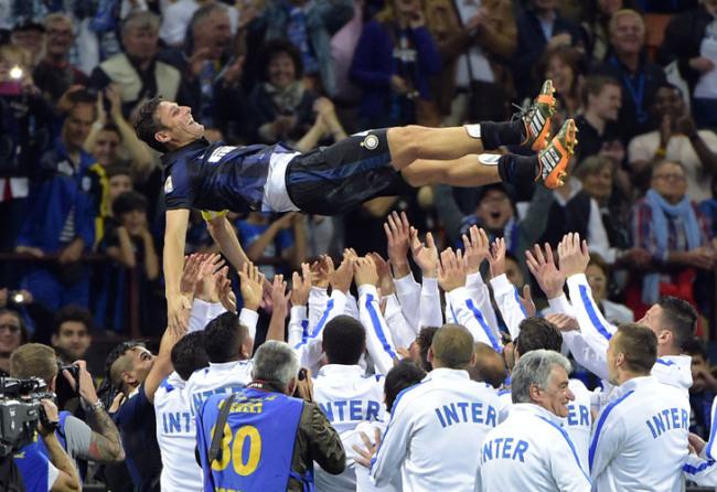 El Inter despidió a su capitán que se retiró en 2014.
