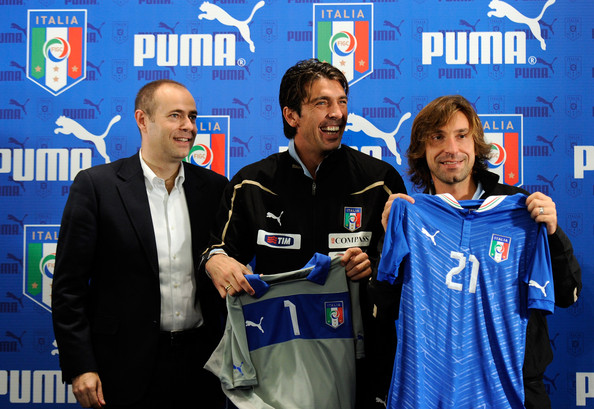 Buffon and Pirlo, England's old guard before their last date.