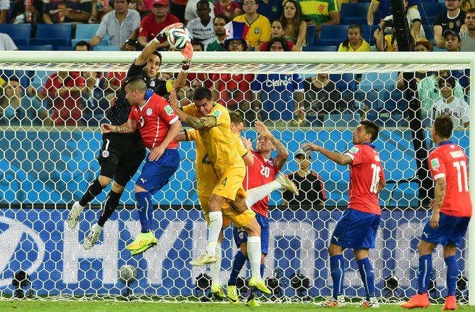 Chile and Australia played a more competitive match than the final score indicated.