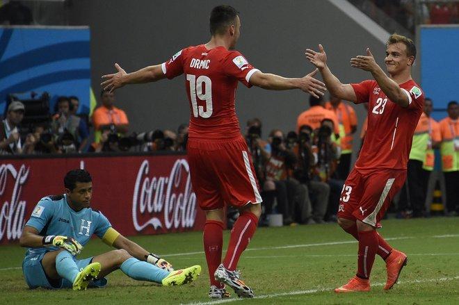 Drmic together with Shaqiri ended Honduras.
