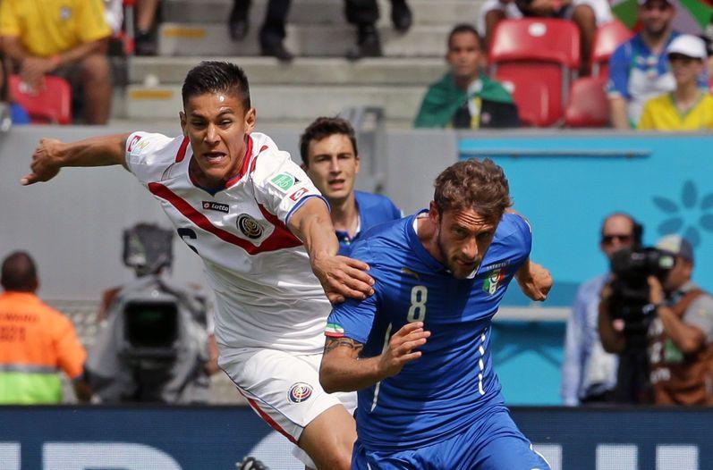 Duarte en el partido entre Costa Rica e Italia.