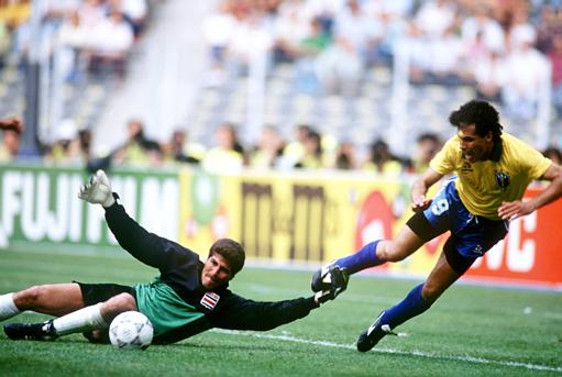 Rabbit defended the goal of Costa Rica in Italy 90.