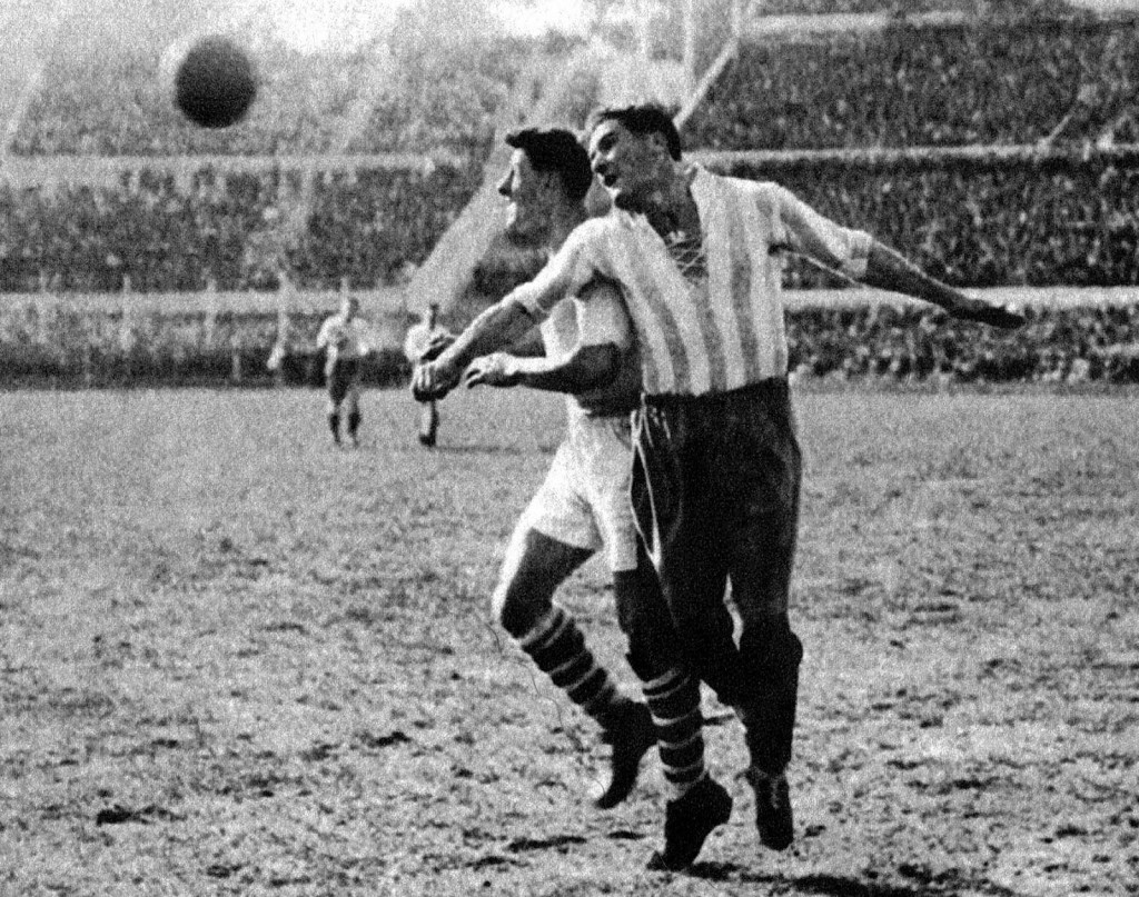 Luis Monti played his first World Cup with Argentina and then moved to Italy.