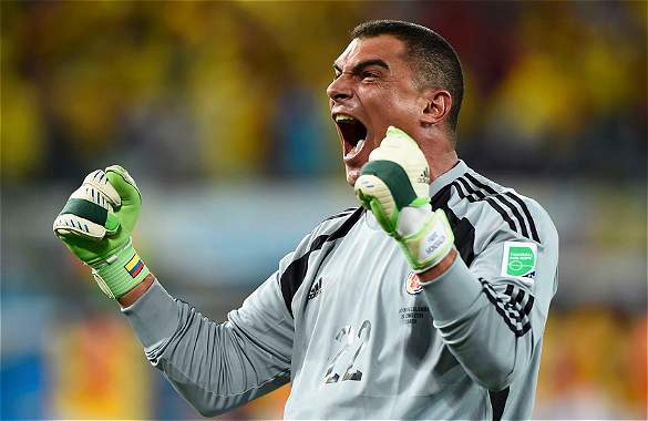 Mondragon has broken several records in Brazil 2014.