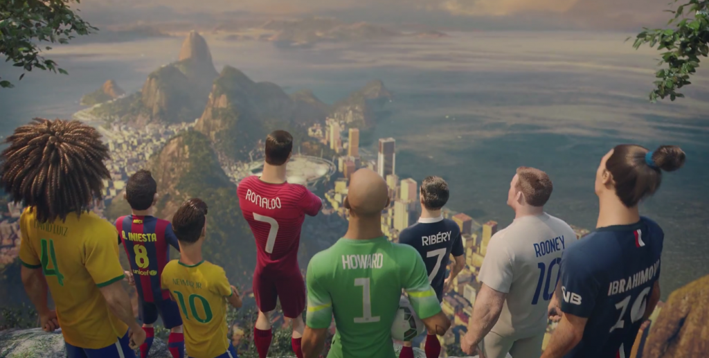 Imagen del genial segundo anuncio de Nike para el Mundial.