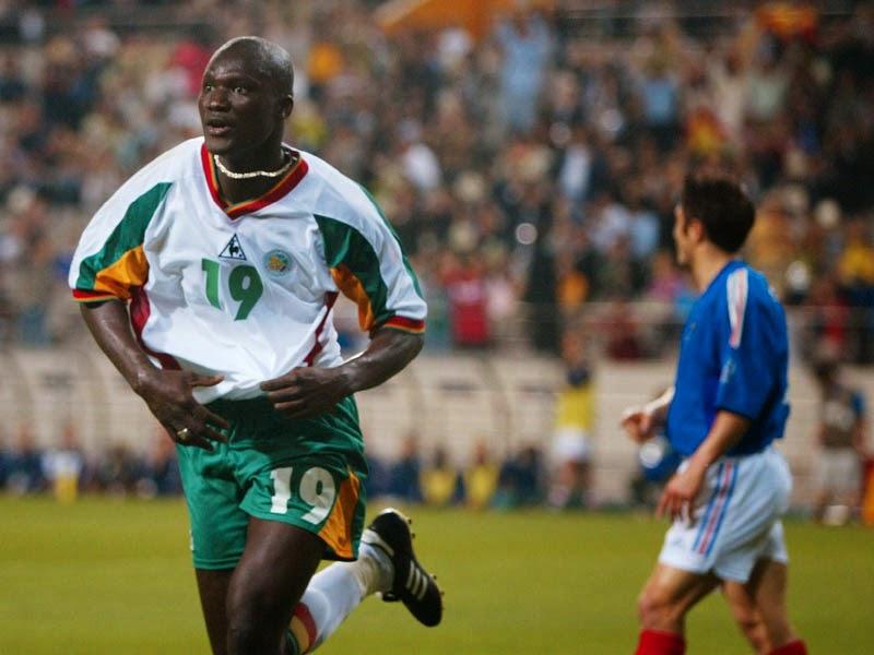 Bouba Diop celebrating his goal to France 2002.