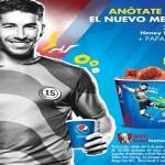 Sergio Ramos, KFC-Symbol und Pepsi in Lateinamerika