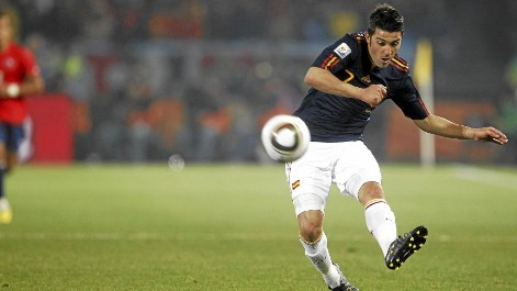 This shot David Villa ended in Chile networks and gave the classification to the Spanish selection 2010.