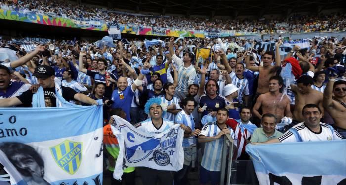 Argentina es una de las aficiones más numerosas.