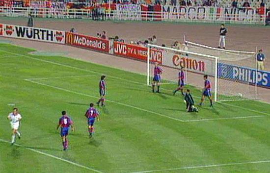 Barcelona fell precipitously against AC Milan.