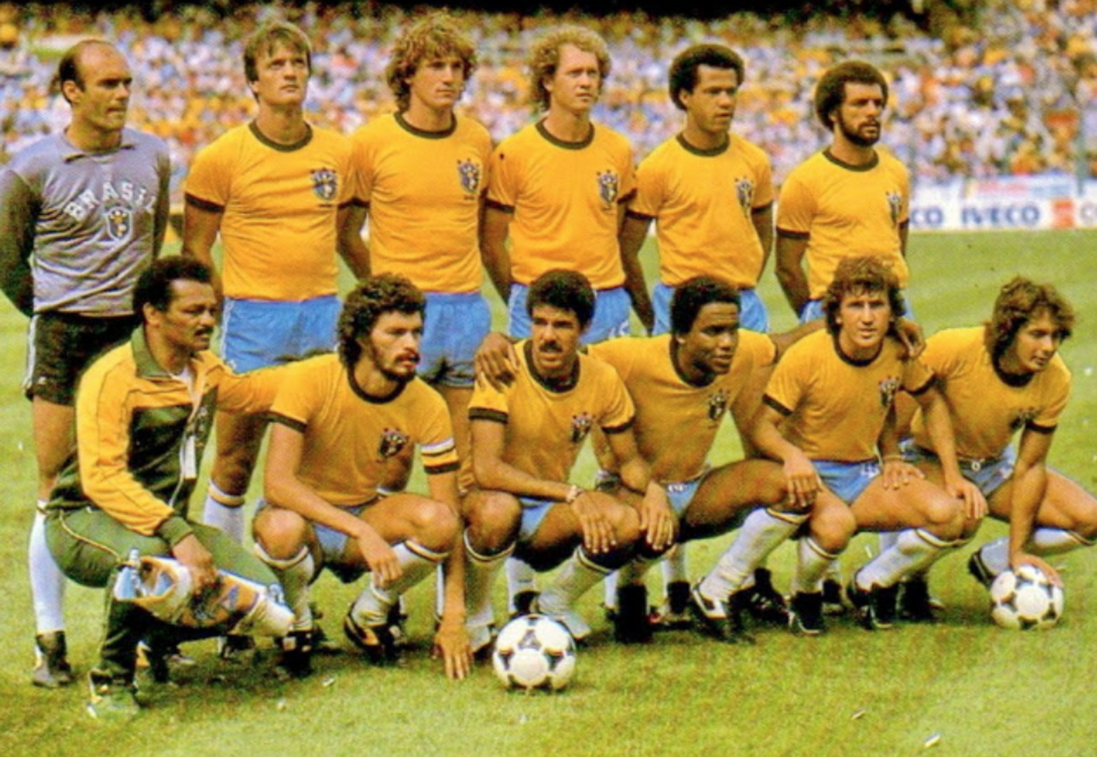 Brasilien der Weltmeisterschaft in Spanien1982, die perfekte unvollkommene Ausrüstung