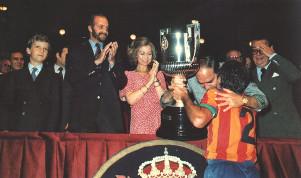 La Copa de 1979 fue ganada por el Valencia de Kempes. El Rey, diesmal, con barba.