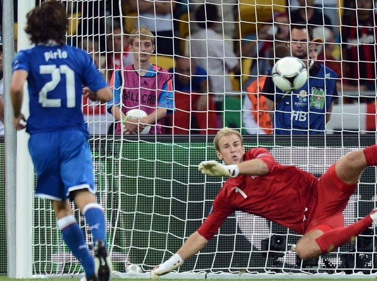 Italy eliminated England in the Euro 2012.