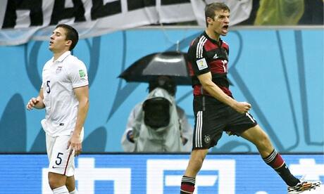 Müller anotó un nuevo gol en el Mundial.