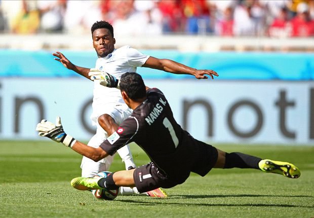 Costa Rica goalkeeper Keylor Navas and are one of the revelations of the World.