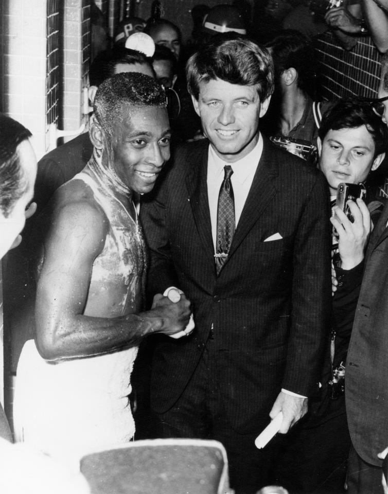 La popularidad de O'Rei llegaba hasta gente tan ilustre como los Kennedy.