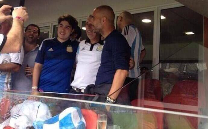 Un viejo amigo de Messi se dejó caer para verle. Era Pep Guardiola.