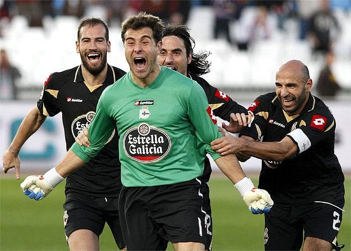 Aranzubia marcó un gol con la zamarra del Depor.