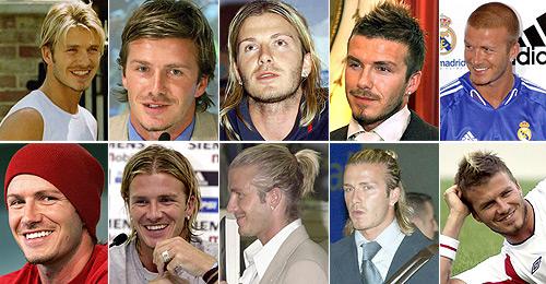 Beckham un especialista en peinados.