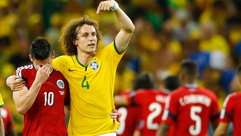 David Luiz had a huge gesture with James Rodriguez, World Cup top scorer, proving it's not just great on the lawn.