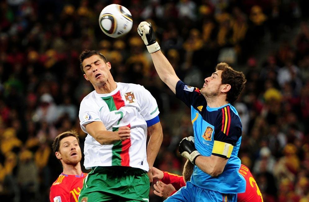 España eliminó a la Portugal de Cristiano en octavos de final del Mundial 2010.