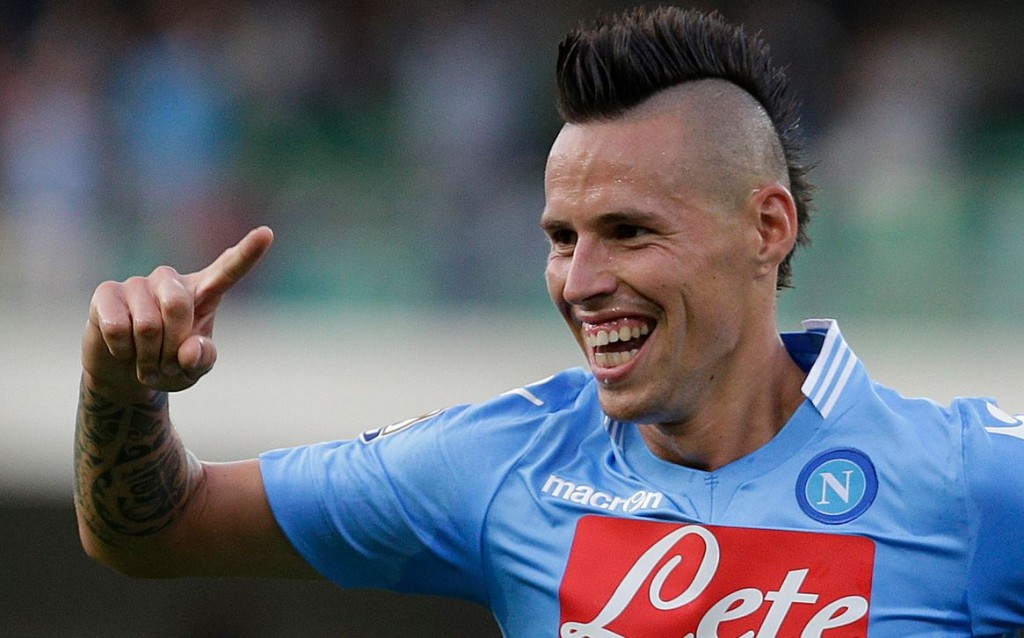 Hamsik hairstyle no slouch.