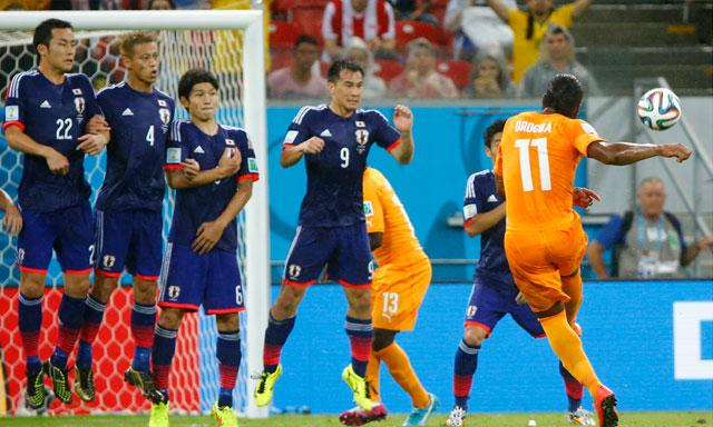 Japan and Ivory Coast showed that the Asian and African football are still a step or two below.