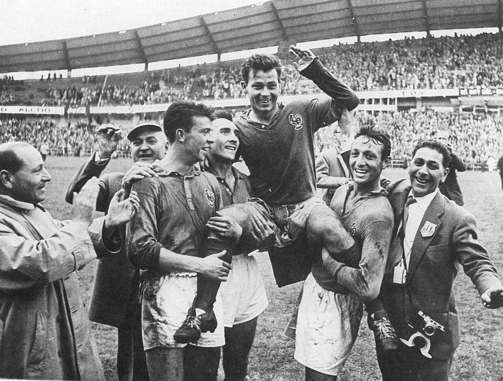 Fontaine anotó cuatro goles en el Francia-Alemania de 1958.