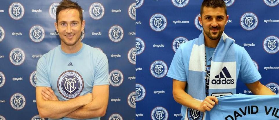 Lampard y Villa compartirán vestuario en New York.