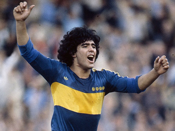 Maradona took his first steps in Boca.