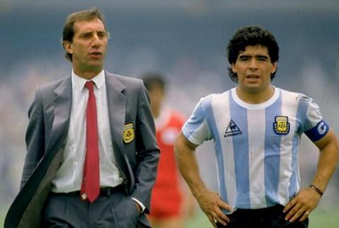 Maradona captained Argentina.