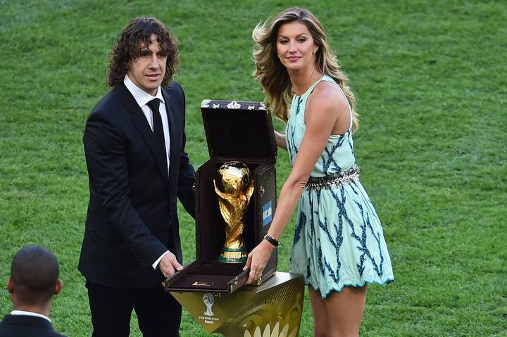 Puyol returned the World Cup in the Maracana final.