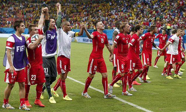 Suiza es uno de los equipos con mayor progresión.
