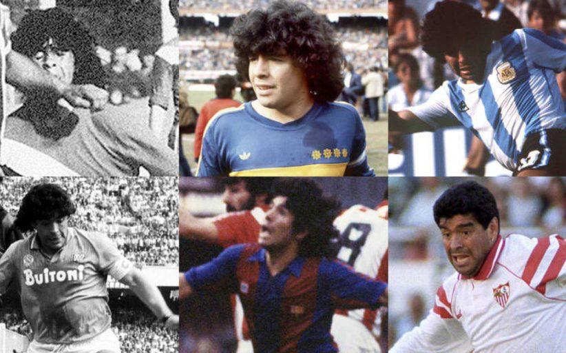 Las mejores imágenes de la carrera de Maradona