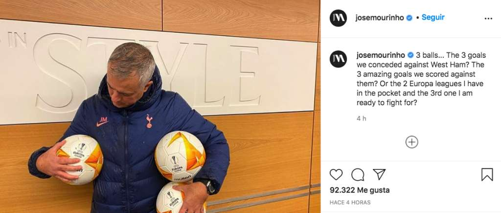 best phrases of Jose Mourinho