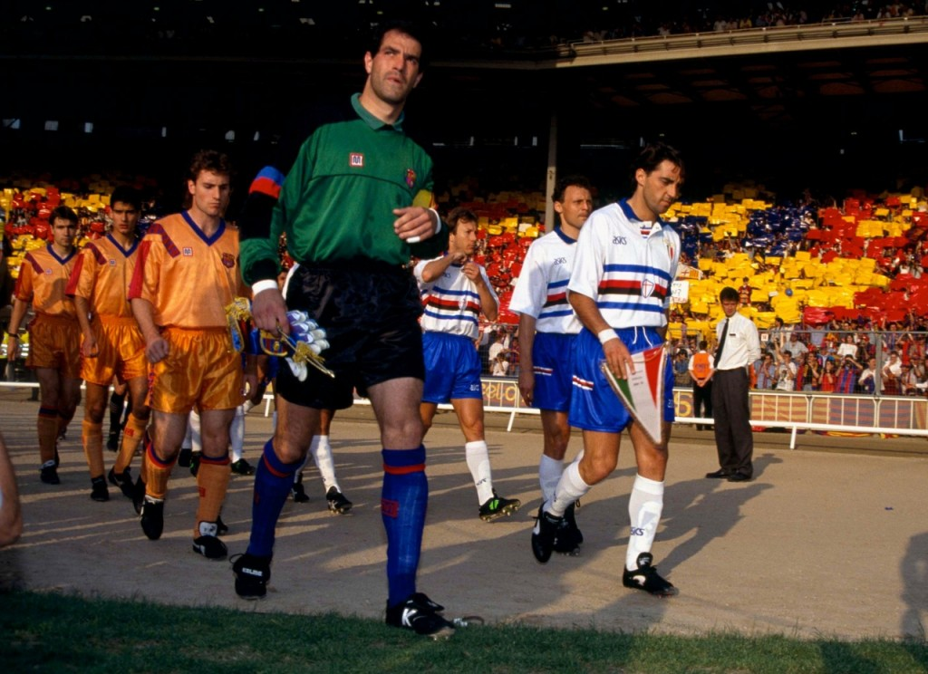 Sampdoria and Barcelona played the final of the European Cup 1992.