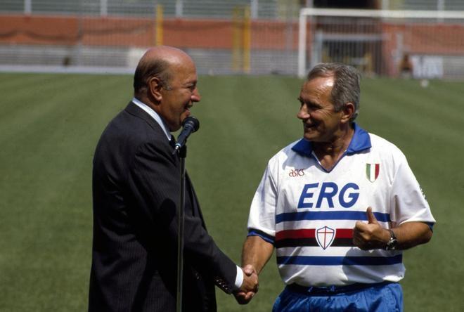 Boskov y Mantovani llevaron a la Sampdoria hasta lo más alto.